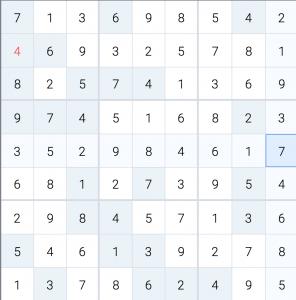 Zeit Sudoku 16 September 2019 Leicht